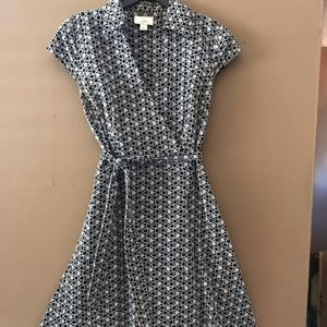 Ann Taylor Loft Black & White Pattern Dress